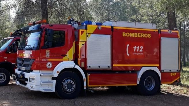 Camiones de bomberos en una imagen de archivo