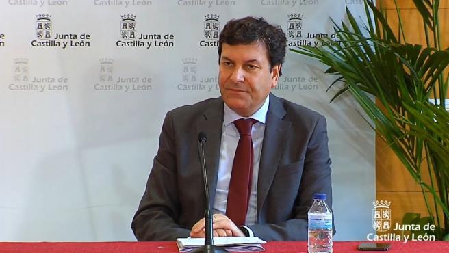 Captura de la comparecencia de Fernández Carriedo en la rueda de prensa sobre COVID-19.