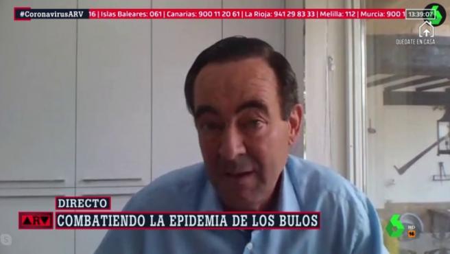El político José Bono en 'Al rojo vivo'.