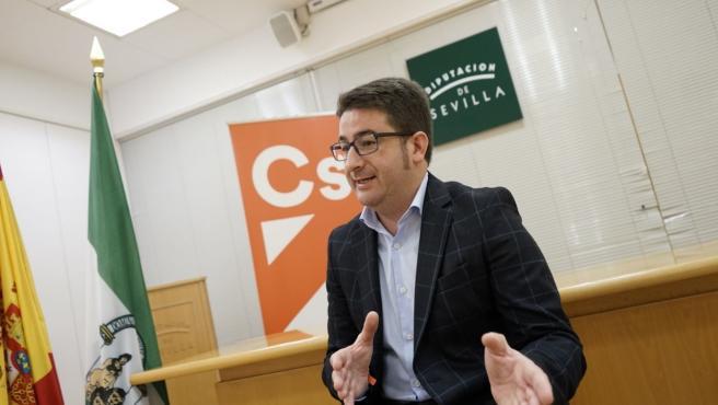 El portavoz de Ciudadanos (Cs) en la Diputación de Sevilla, Manuel Benjumea