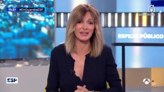 Susanna Griso presenta su programa 'Espejo público'.