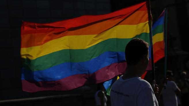 manifestación del Orgullo LGTBI. Desde la Diputación Provincial. En Sevilla