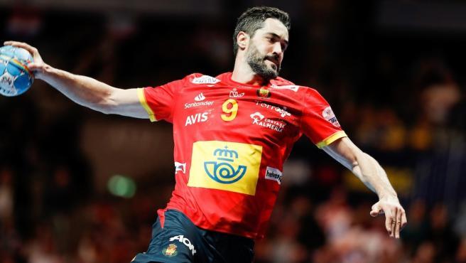 El capitán de la selección española de balonmano, Raúl Entrerríos