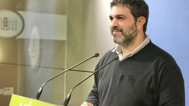 El diputado de MÉS per Mallorca Josep Ferrà, en una imagen en el Parlament.