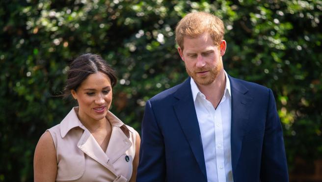El príncipe Harry y Meghan Markle, en octubre de 2019.