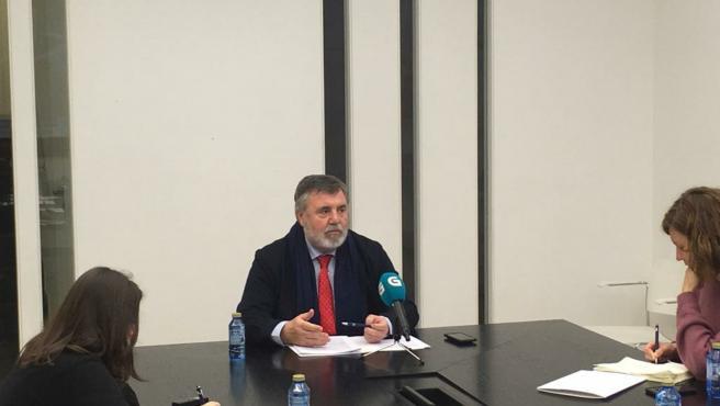 El presidente del Colegio de Médicos de A Coruña, Luciano Vidán.
