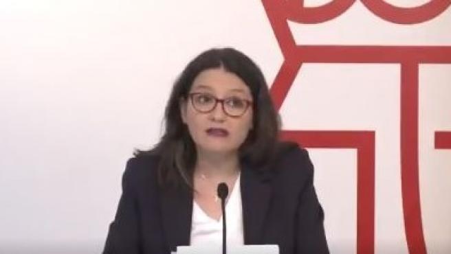La vicepresidenta del Gobierno valenciano y consellera de Igualdad y Políticas Inclusivas, Mónica Oltra.