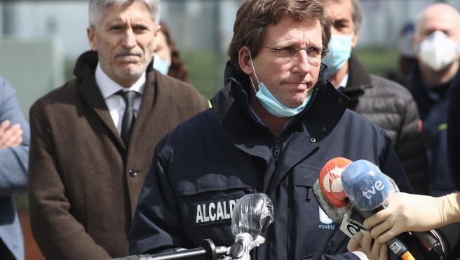 José Luis Martínez-Almeida en una rueda de prensa durante el estado de alarma.