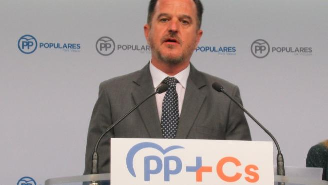 El candidato a lehendakari de la coalición PP+Cs, Carlos Iturgaiz.