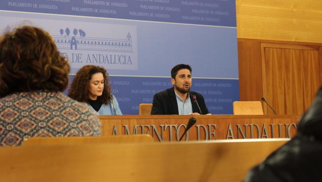El diputado de Adelante, Ismael Sánchez, comparece en rueda de prensa