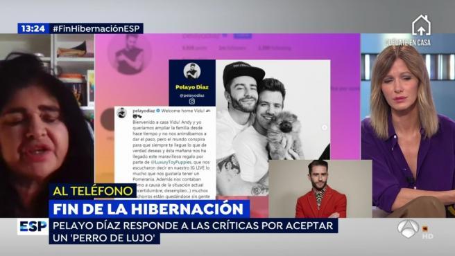 Pelayo Díaz y Lucía Etxebarria se enfrentan en 'Espejo público'.