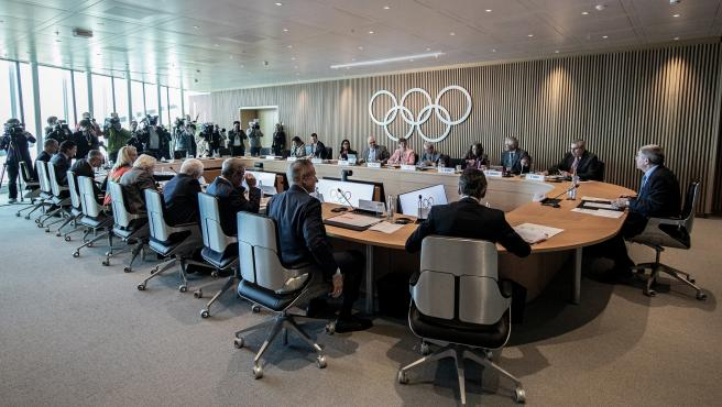 IOC executive board meeting in Switzerland