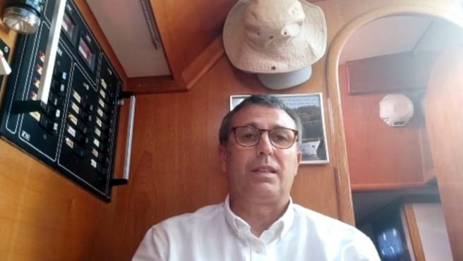 Rafael Lambién, el español que ha pasado la cuarentena en una isla desierta.