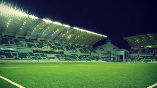 El estadio del Ahal FC de Turkmenistán.