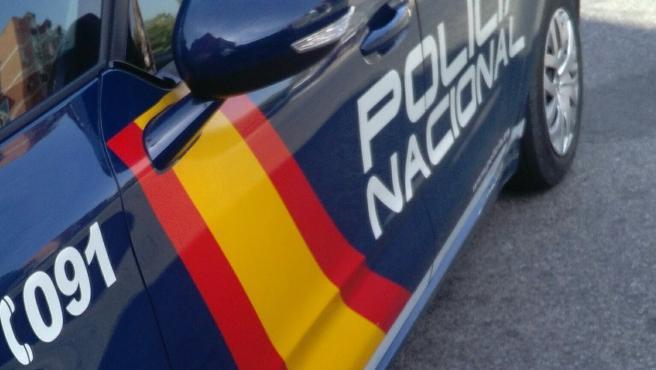 Coche patrulla de Policia Nacional.