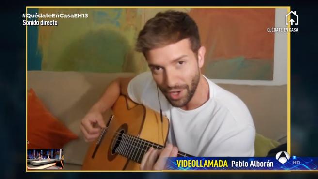 Pablo Alborán, en 'El hormiguero: Qúedate en casa'.
