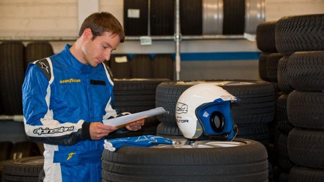 Lopes trabajaa como probador de neumáticos en la planta de Goodyear de Luxemburgo.
