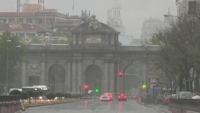 Aviso amarillo por lluvias y tormentas que pueden ser de granizo en toda la Comunidad de Madrid