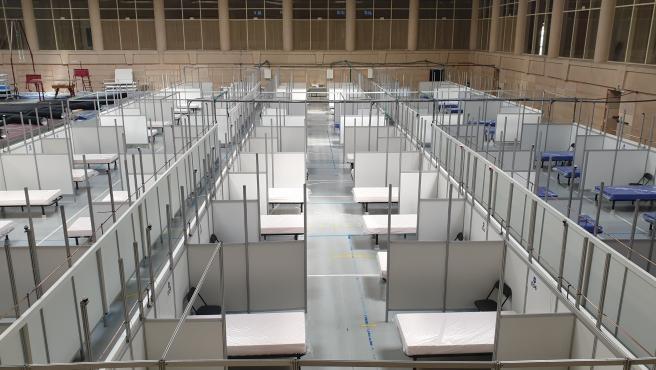 El pabellón de Inefc habilitado para acoger a pacientes del Hospital Clínic durante la crisis sanitaria por el coronavirus