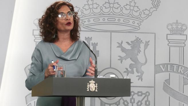 La ministra de Hacienda y portavoz del Ejecutivo, María Jesús Montero,
