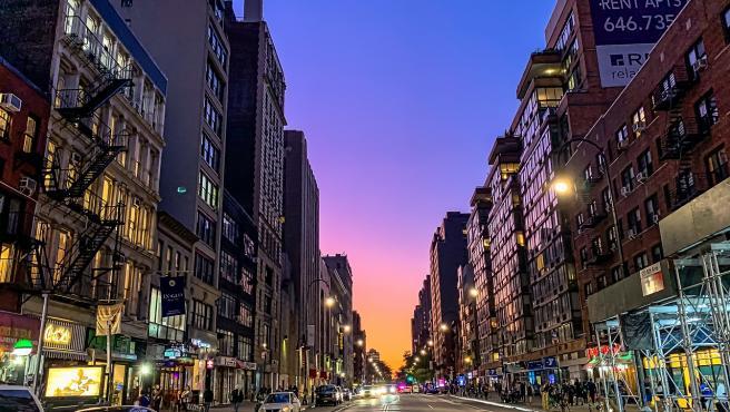 Calle Manhattan de Nueva York, en una imagen de archivo.
