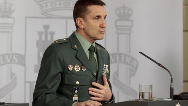 El general José Manuel Santiago, Jefe del Estado Mayor de la Guardia Civil.