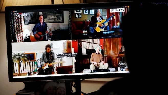 Los Rolling Stones, en el megaconcierto solidario contra el coronavirus.