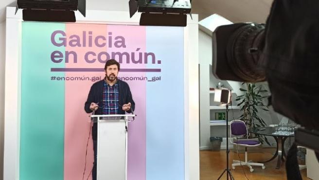 Antón Gómez-Reino en rueda de prensa