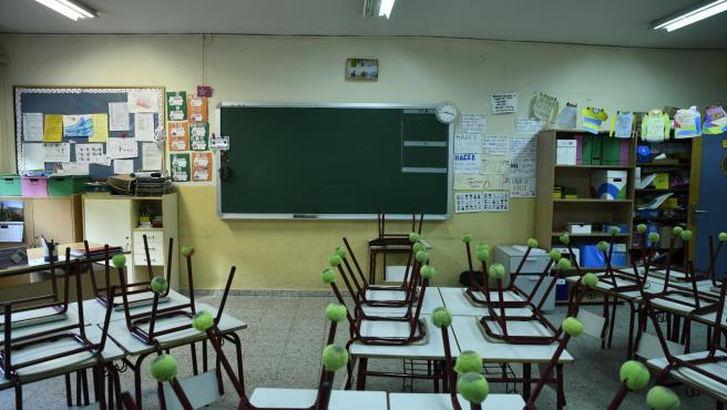 Aula de Primaria de un colegio de Educación Infantil y Primaria.