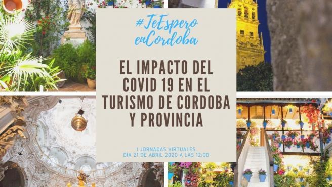 Cartel de la jornada de análisis del sector turístico en Córdoba tras el Covid-19.