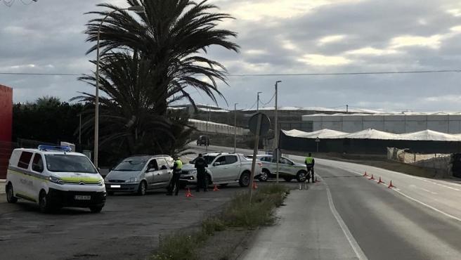 Control de la Policía Local de El Ejido (Almería)