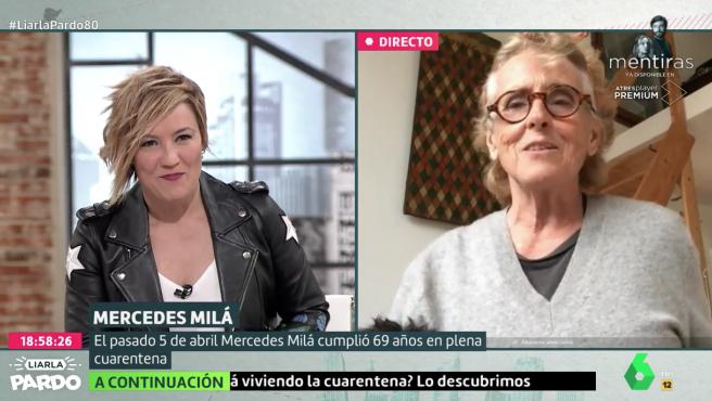 Cristina Pardo y Mercedes Milá en 'Liarla Pardo'.