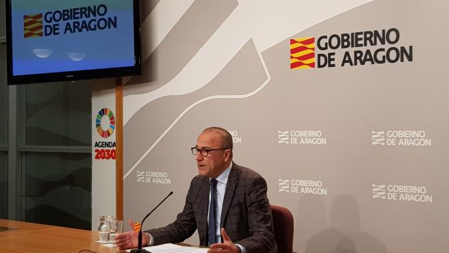 El consejero de Educación, Cultura y Deporte del Gobierno de Aragón, Felipe Faci