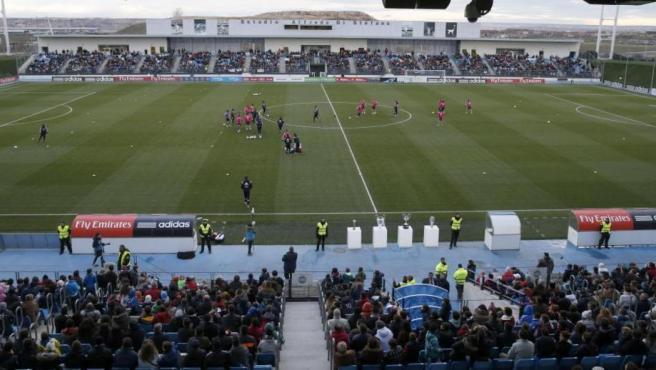 El Estadio Alfredo Di Stéfano, en una foto de archivo durante un entrenamiento del Real Madrid abierto al público.