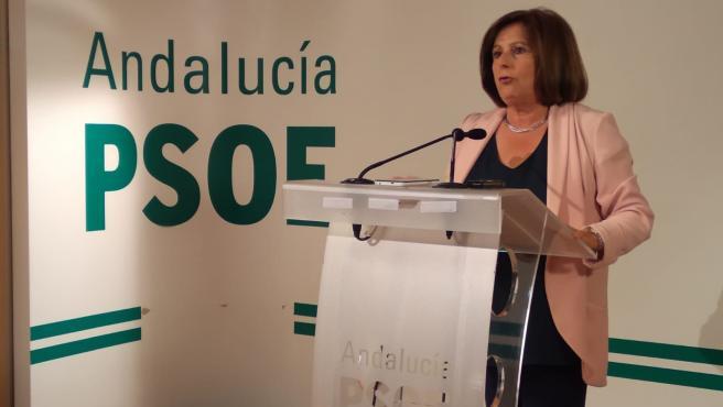 La parlamentaria andaluza del PSOE María José Sánchez Rubio, en imagen de archivo