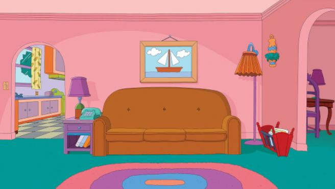 El famoso salón de la familia Simpson