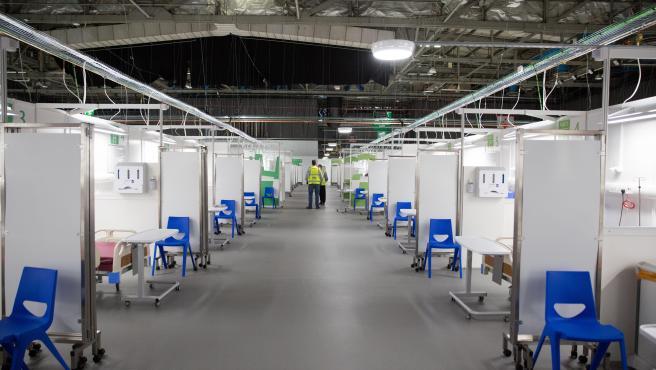 Un hospital de campaña en Glasgow.