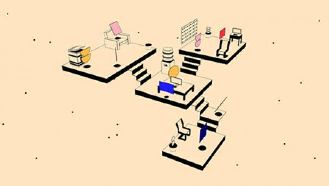 El diseño de la web recuerda un poco a la cultura Bauhaus.