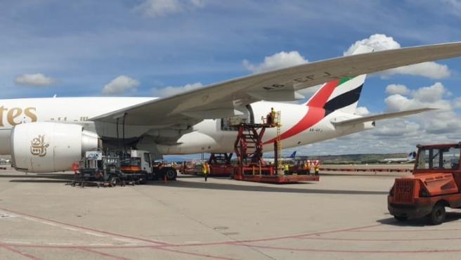 Avió amb material sanitari per a la Comunitat Valenciana