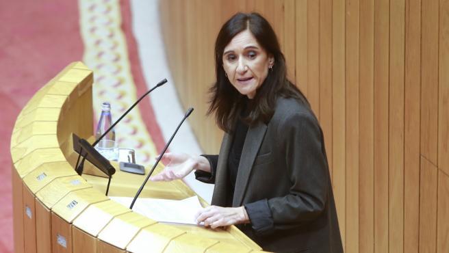 Carmen Pomar comparece en la Diputación Permanente de la Cámara gallega