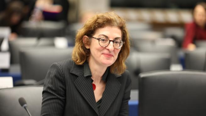 Maite Pagaza, en una sesión del Parlamento Europeo.