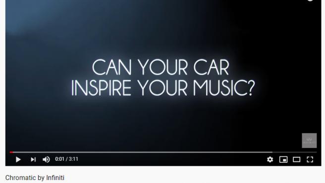 Portada de youtube de un videoclip producido únicamente con sonidos de coche.