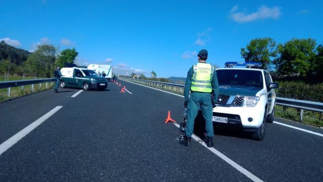 Control de tráfico de la Guardia Civil