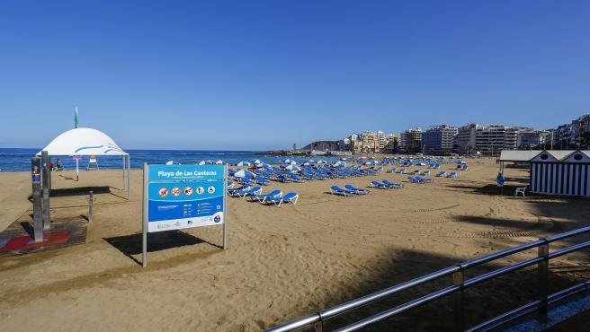 Imagen de archivo de la Playa de Las Canteras.