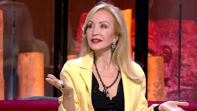 Carmen Lomana, en 'Supervivientes', de Telecinco.