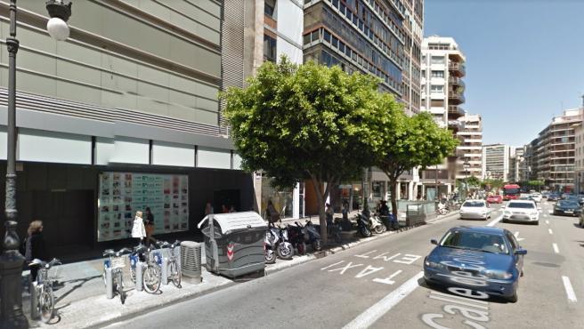 Imagen reciente de la calle Colón de València.