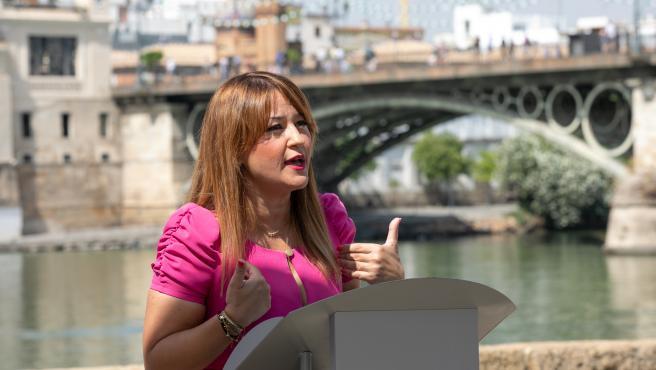 La secretaria general del PSOE de Sevilla, Verónica Pérez, en una imagen de archivo