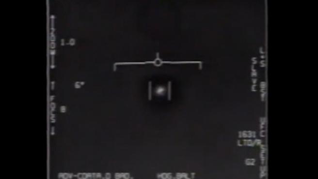 Captura del vídeo que difunde el Péntágono de supuestos ovnis
