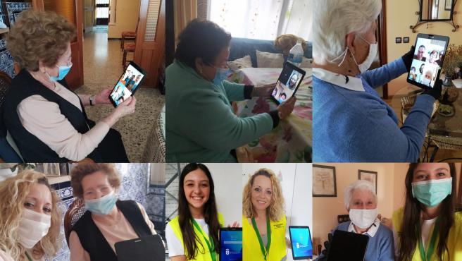 Voluntarios de La Rinconada (Sevilla) llevan a cabo el programa municipal 'Amigos de los mayores' para que superen la brecha digital