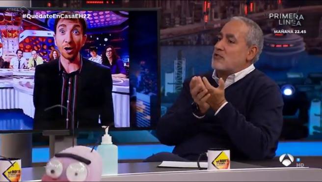Jorge Salvador, en 'El hormiguero: Quédate en casa'.